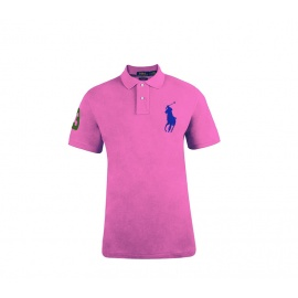 Ralph Lauren CUSTOM-FIT Pink Big Pony Blue