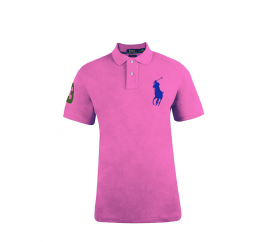 Ralph Lauren CUSTOM-FIT Pink Big Pony Blue