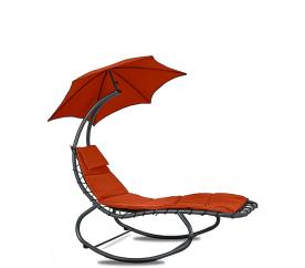 Linder Exclusiv kerti napozóágy napernyővel RED