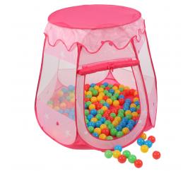 Kiduku gyerekjáték sátor + labdák Pink