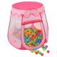 Kiduku Dětský hrací stan s míčky Pink