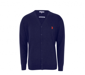 U.S. Polo ASSN. Kardigan V-Neck Navy