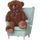 Aga4Kids Plyšový medvěd 140 cm Bueno Brown