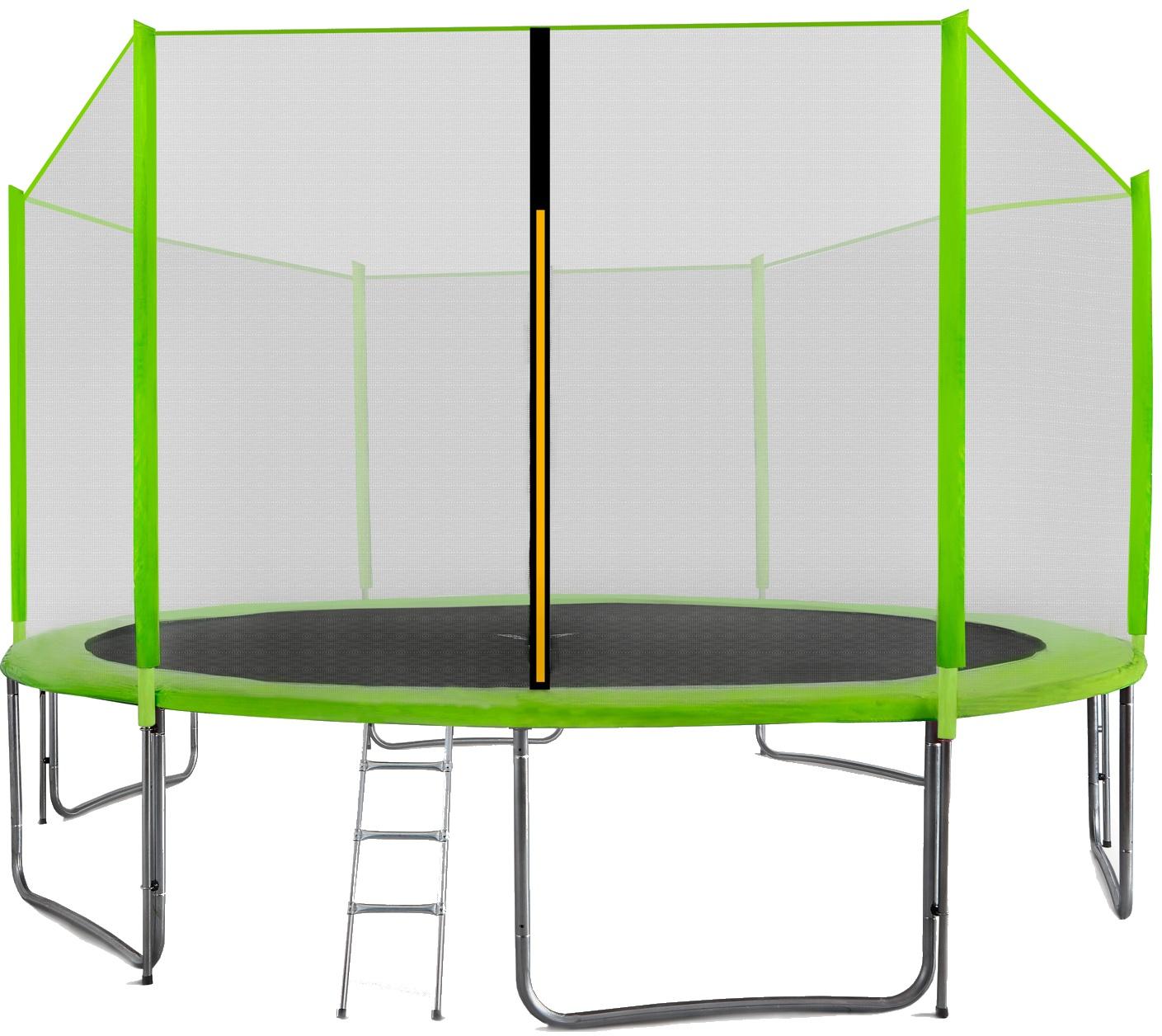 Aga SPORT PRO Trampolína 430 cm Light Green + ochranná síť  + žebřík + kapsa na obuv + krycí plachta