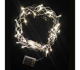 Linder Exclusiv Dekorativ LED koszorú 40 LED meleg fehér