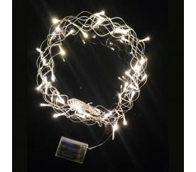 Linder Exclusiv LAMPKI Świąteczny wieniec 40 LED ciepła biel