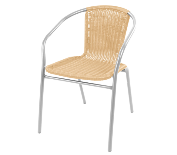 Linder Exclusiv Zahradní židle RATAN Silver/Beige