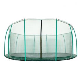Aga belső védőháló 488 cm trambulinra  12 oszlopos Dark Green (kör)