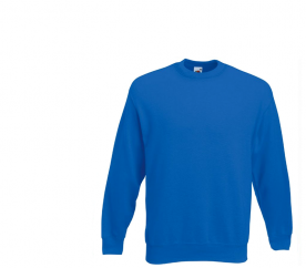 Fruit of the Loom Bluza SET-IN SWEAT Royal Blue
