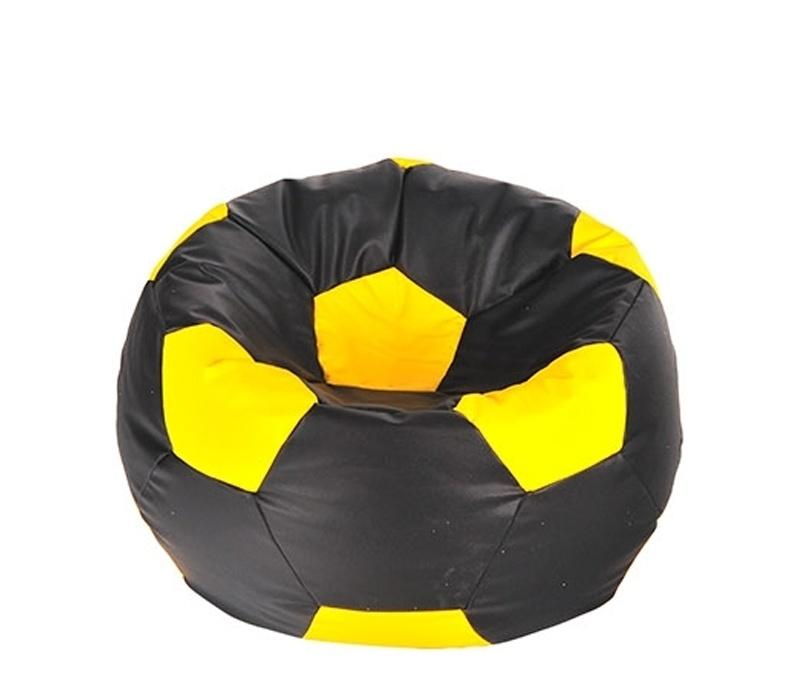 Aga Sedací vrece BALL Farba: Čierna - Žltá
