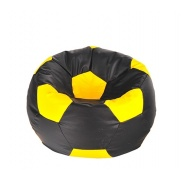 Aga Sedací vrece BALL Farba: Žltá - Čierna