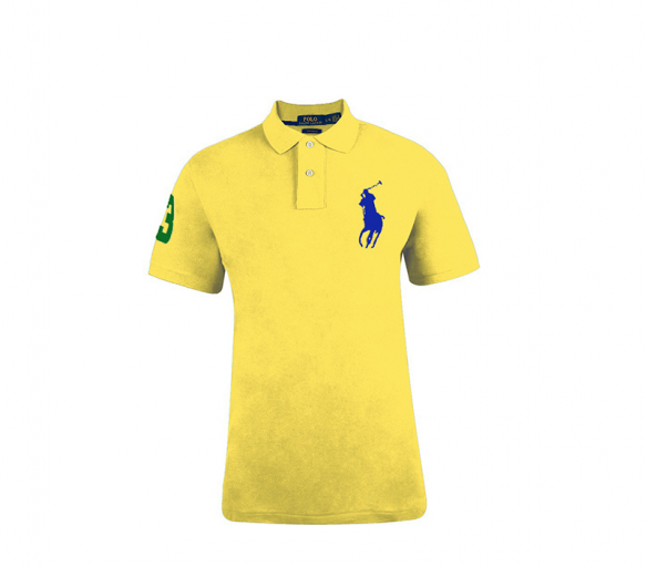 Ralph Lauren CUSTOM-FIT Yellow Big Pony Blue