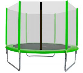 Aga SPORT TOP Trampolina ogrodowa 250 cm 8ft z siatką zewnętrzną - Light Green