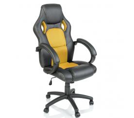 Tresko Kancelářské křeslo Racing Black - Yellow