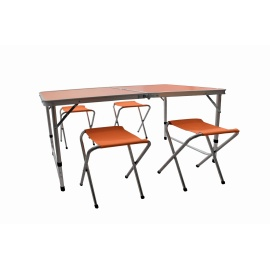 Aga Kempingový skládací set Oranžový