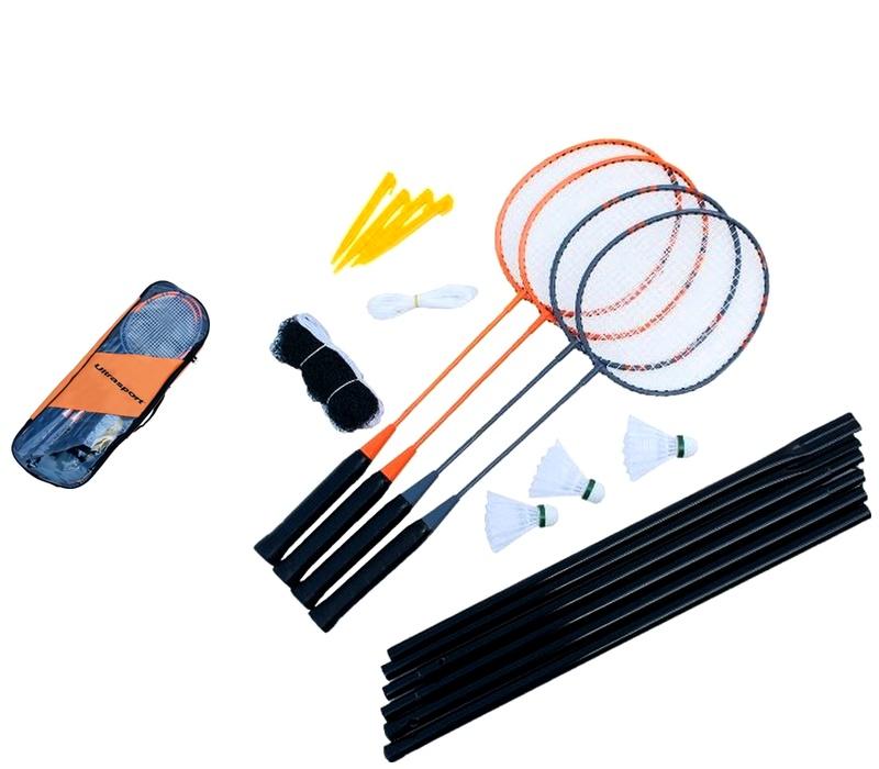 Ultrasport Badmintonový set KLASIK 4-PACK + Siet'