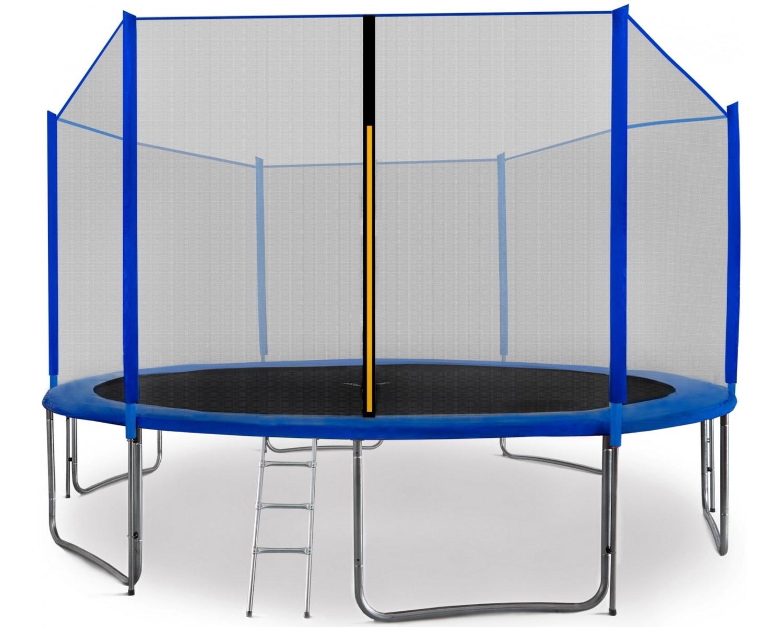 Aga SPORT PRO Trampolína 430 cm Blue + ochranná síť + žebřík + kapsa na obuv + krycí plachta