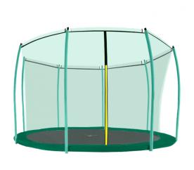 Aga belső védőháló 366 cm trambulinra 8 rudas Dark Green (kör)