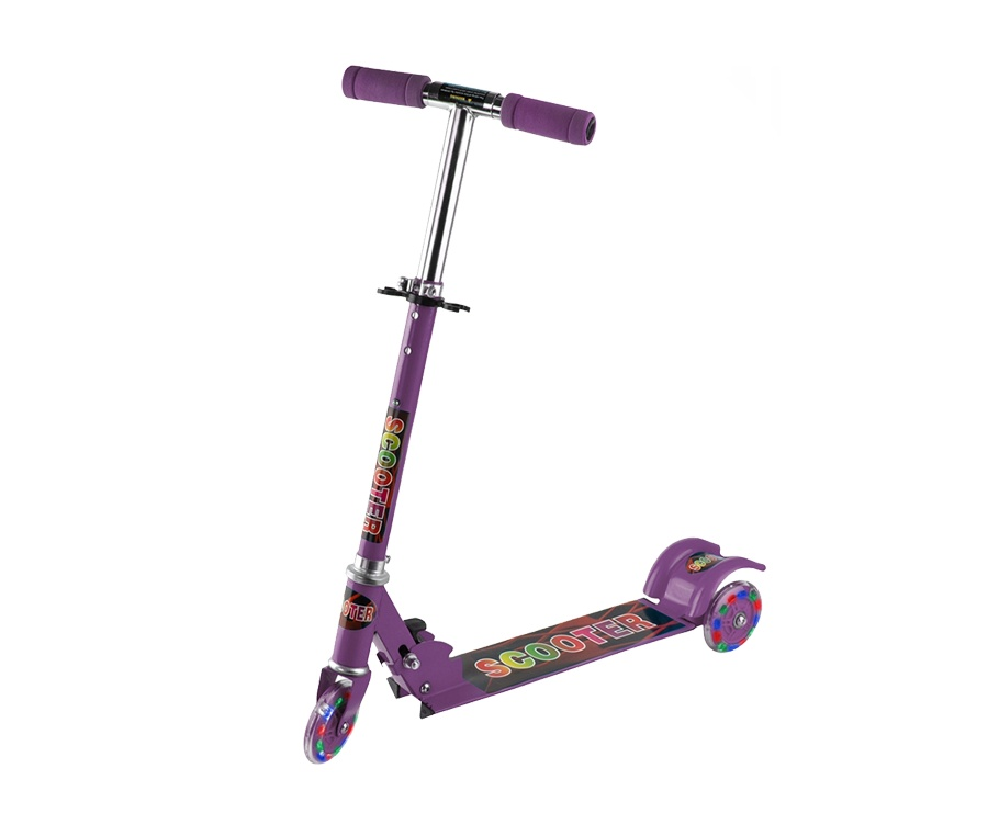 Aga4Kids Dětská koloběžka LED Purple