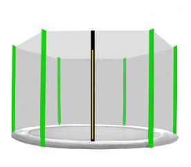 Aga Siatka do trampoliny 430cm 14ft zewnętrzna na 6 słupków Black net / Light Green