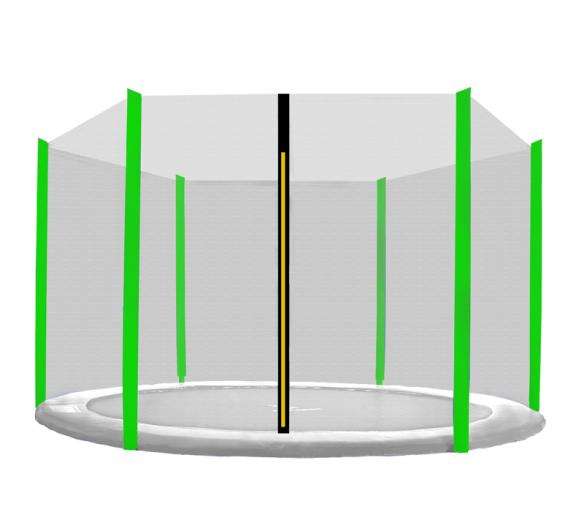 Aga Ochranná síť 430 cm na 6 tyčí Black net / Light Green