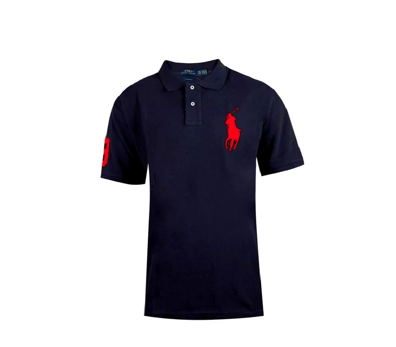 Ralph Lauren CUSTOM-FIT Newport Navy Big Pony Red