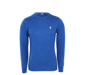 U.S. Polo ASSN. Sweter ROUND-NECK Royal