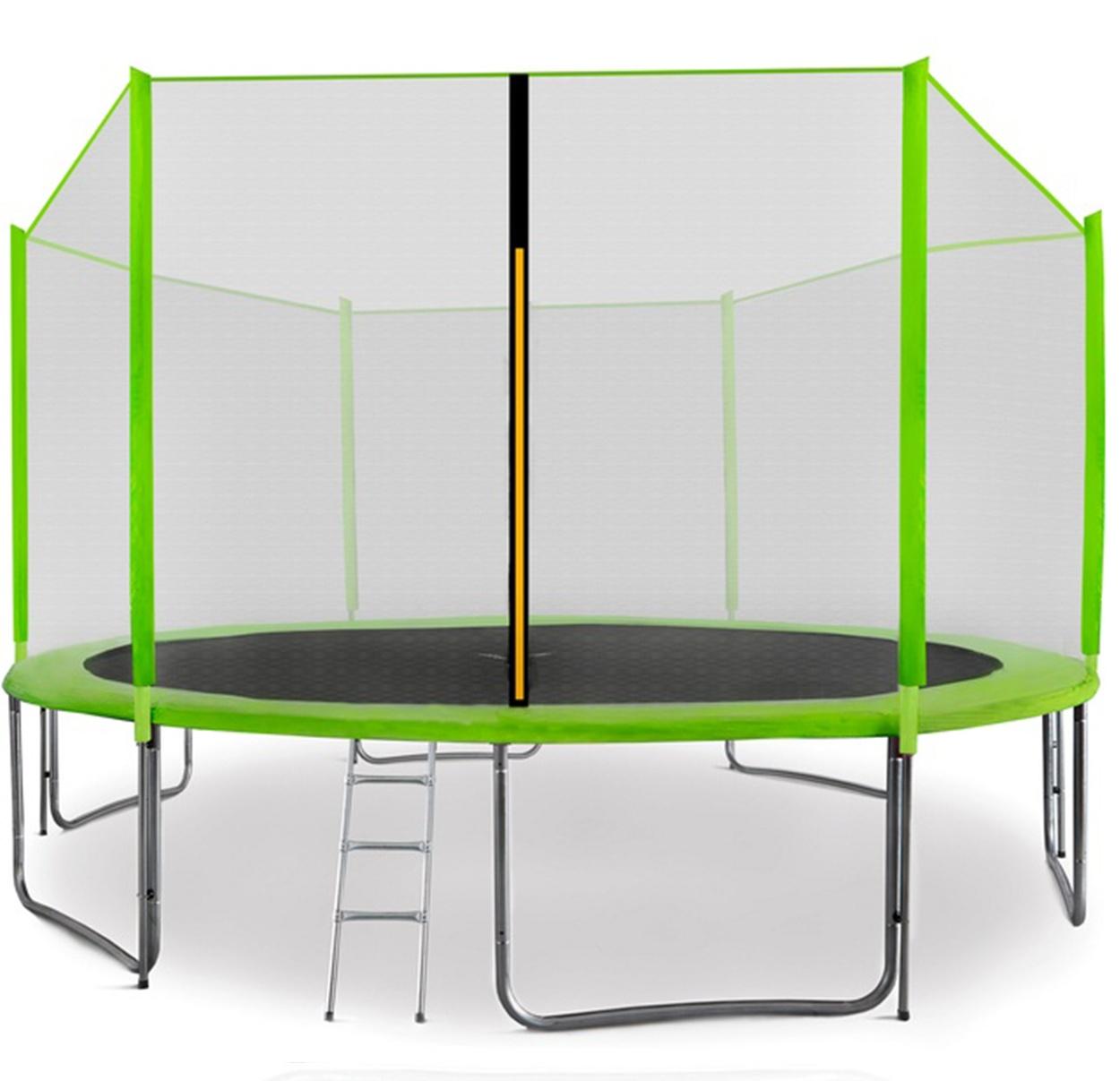 Aga SPORT PRO Trampolína 400 cm Light Green + ochranná síť  + žebřík + kapsa na obuv
