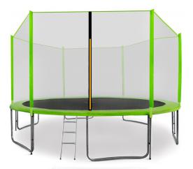 Aga SPORT PRO Trampolína 400 cm Light Green + ochranná sieť + schodíky + vrecko na obuv