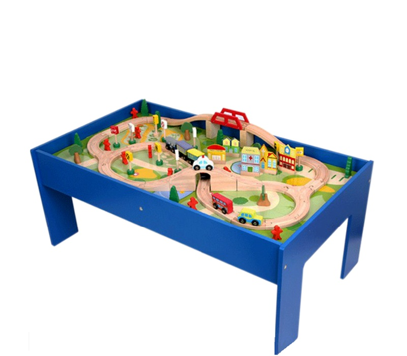 Aga4Kids Vláčkodráha TABLE TRAIN SET 80