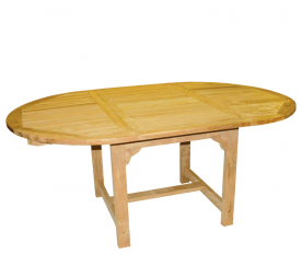 Linder Exclusiv Záhradný stôl TEAK OVAL DF53 180x120x75 cm