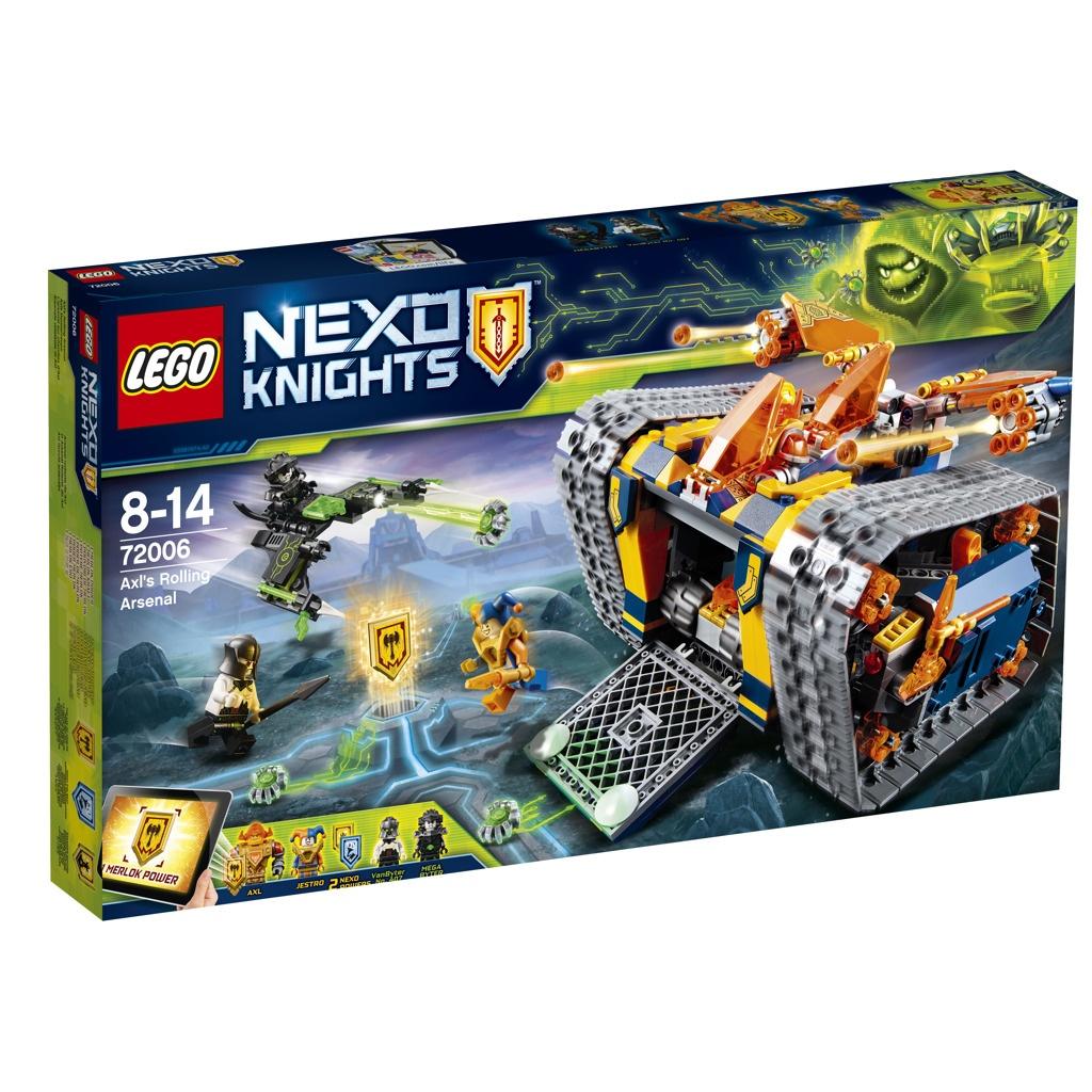 Lego Nexo Knights Axlův arzenál na kolečkách