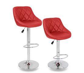 Tresko 2x Barová židle Red