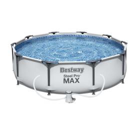 Bestway Basen stelażowy Steel Pro Max 3,05 x 0,76 m 56408 + Pompa filtrująca