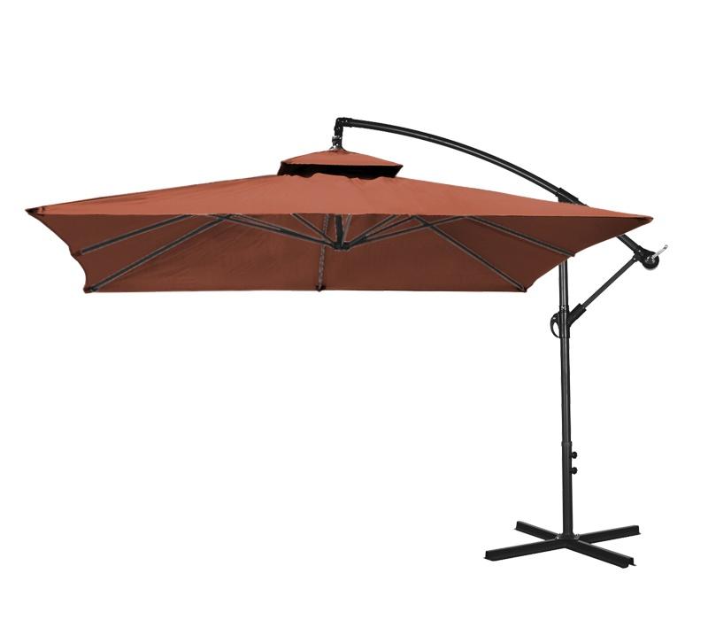 Aga Záhradný slnečník konzolový EXCLUSIV CUBE 250 cm Dark Brown