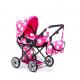 Doris Kočárek pro panenky 9346 Hot Pink & Black