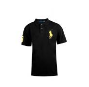 Ralph Lauren férfi rövidujjú Black Big Pony Yellow
