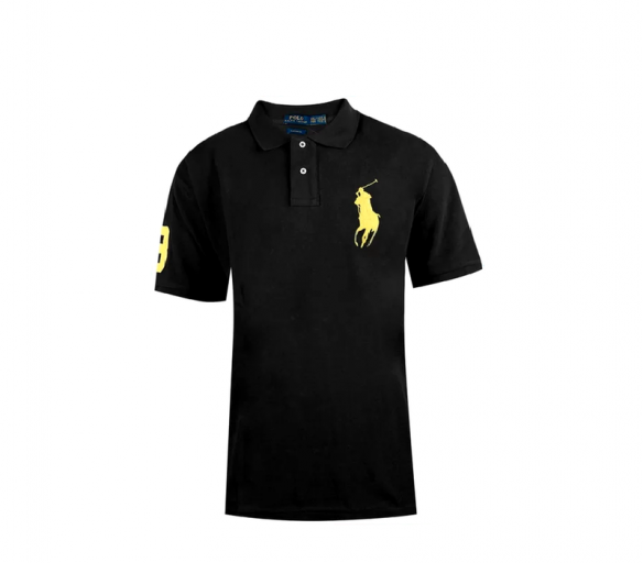 Ralph Lauren CUSTOM-FIT Black Big Pony Yellow