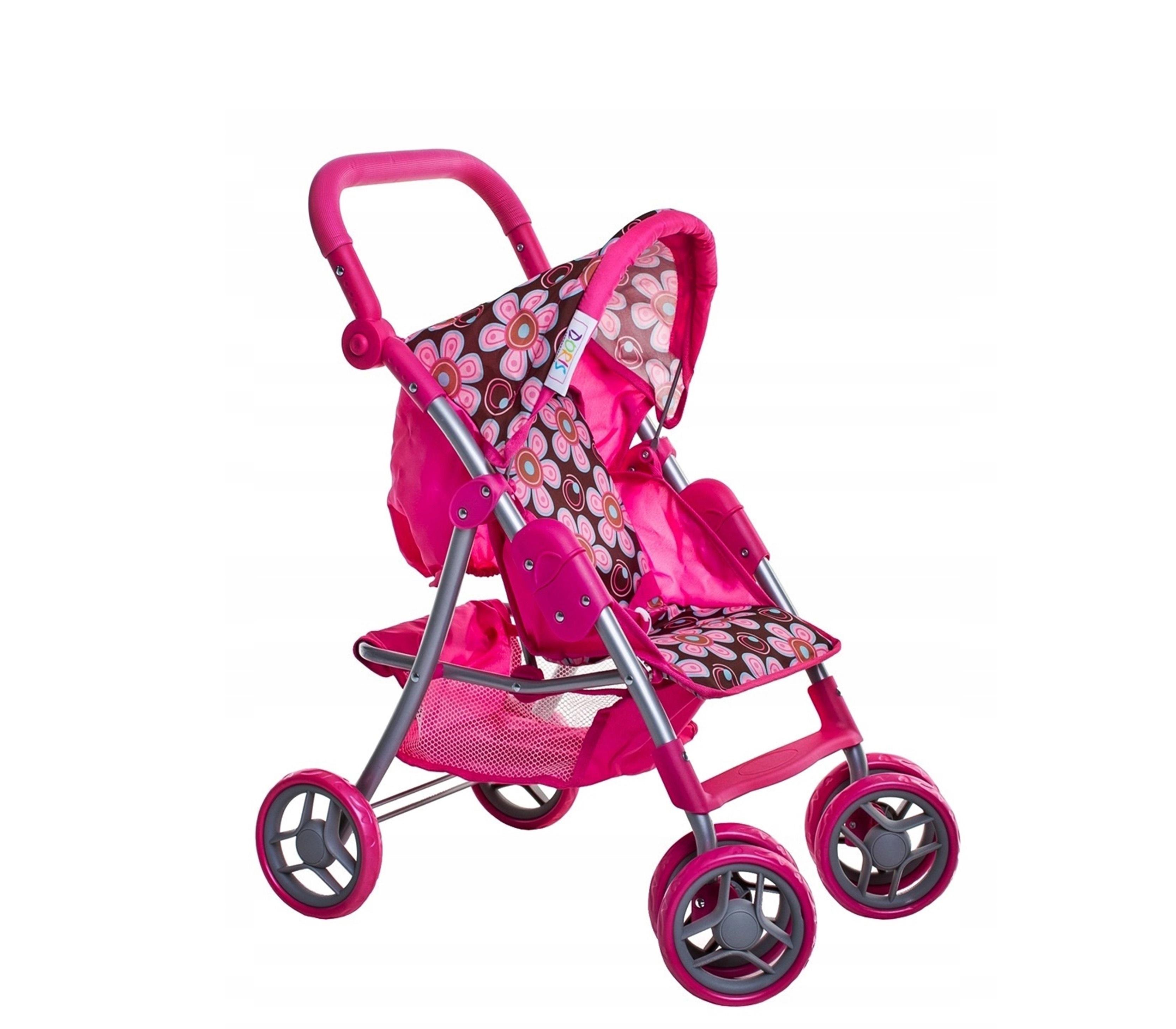 Doris Sportovní kočárek pro panenky 9352 Hot Pink 3