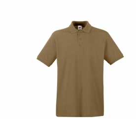 Fruit Of The Loom Tričko PREMIUM POLO Khaki