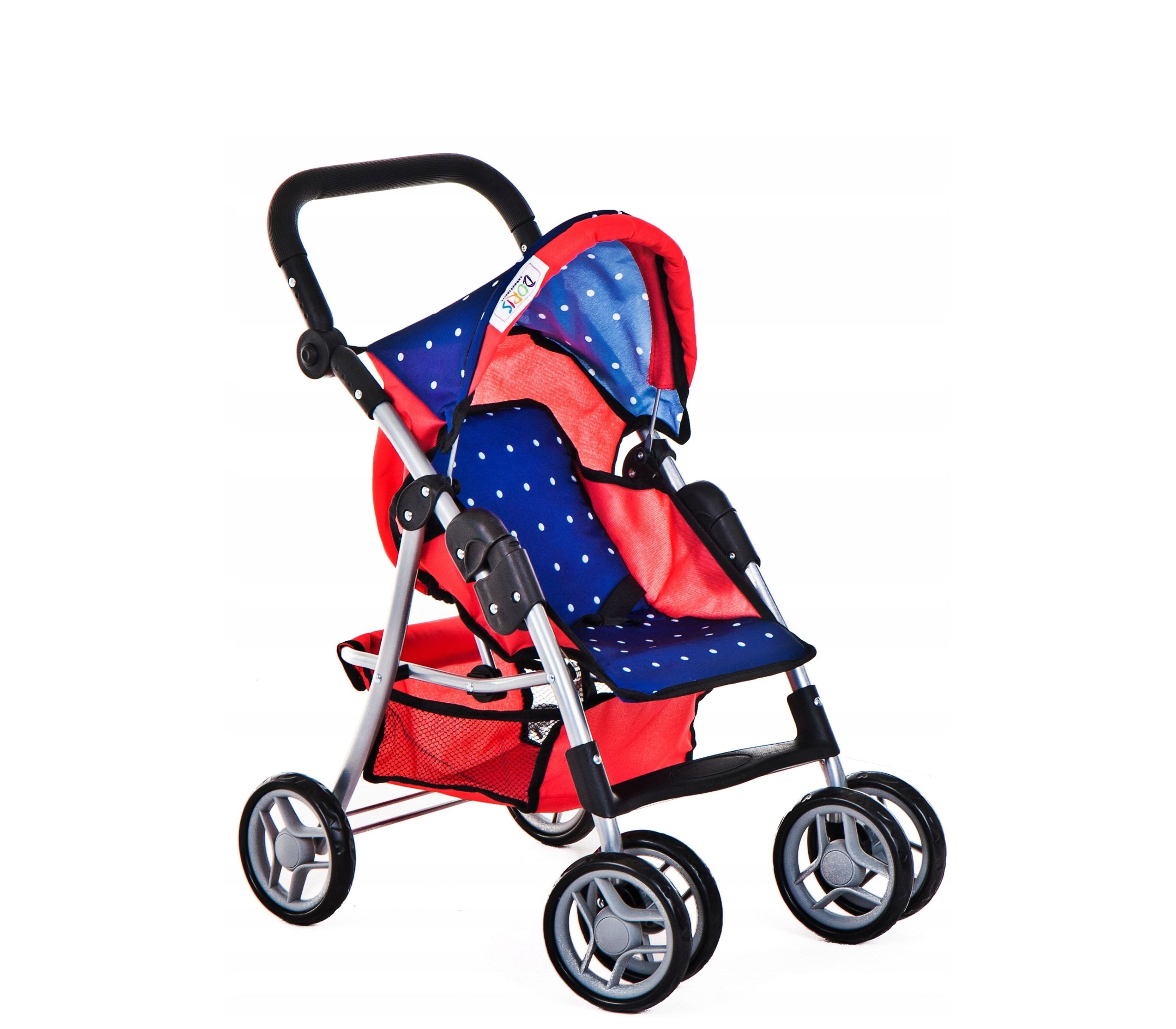Doris Športový kočík pre bábiky 9352 Red