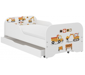 Wooden Toys Dětská postel Work 140x70 cm