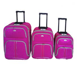 Linder Exclusiv Zestaw walizek COMFORT COLORS MC3051 S,M,L Pink