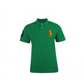 Ralph Lauren CUSTOM-FIT Green Big Pony Orange