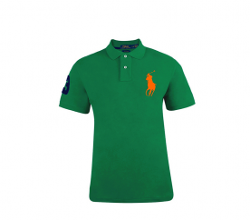 Ralph Lauren CUSTOM-FIT Green Big Pony Orange