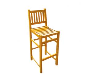 Linder Exclusiv Krzesło barowe ogrdowe hoker z drewna tekowego NC88