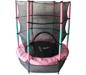 Aga gyerek trambulin 140 cm Pink/Dark Green + védőháló
