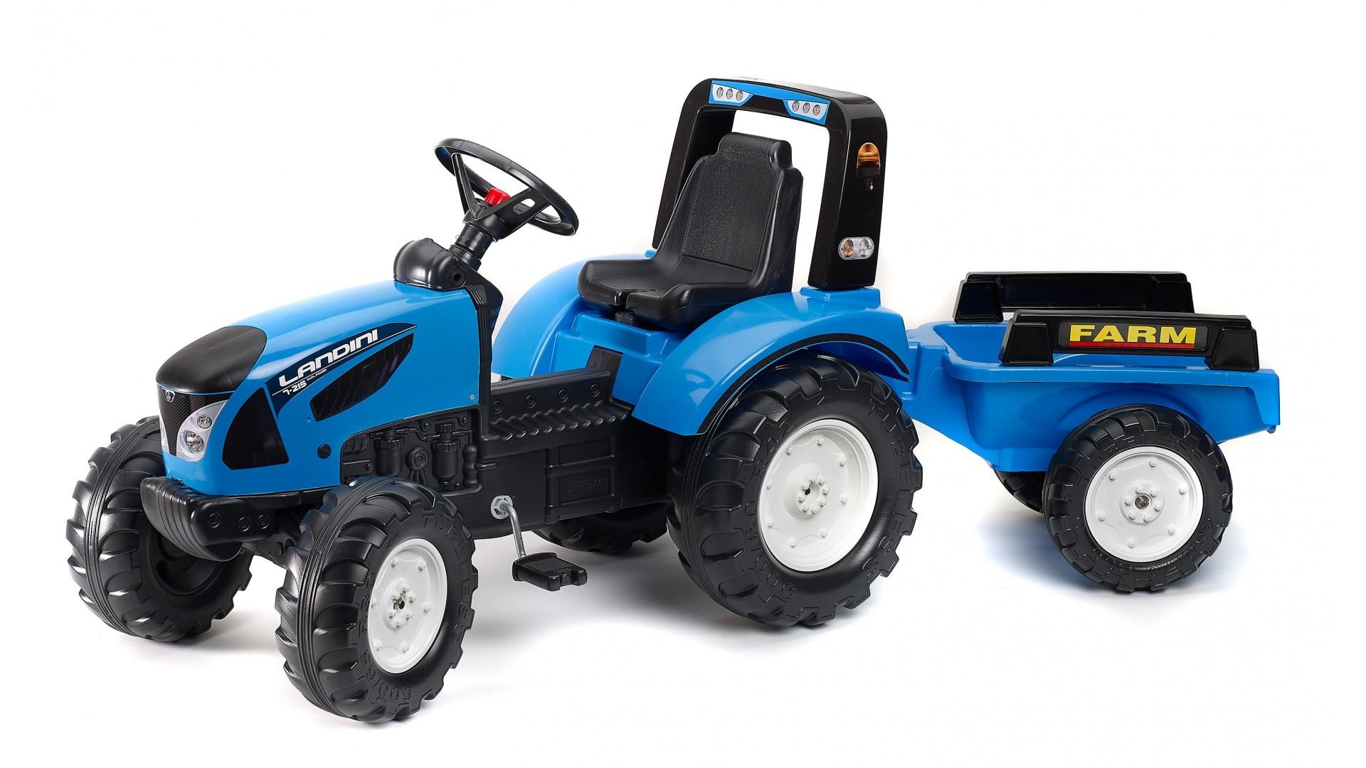 Falk Šlapací traktor LANDINI 3010AB s vlečkou