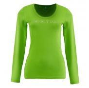 Benetton női Hosszú ujjú póló nagy kövekből készült felirat világos zöld