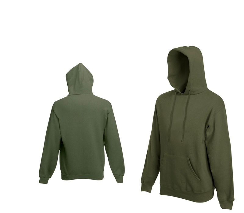 Fruit Of The Loom HOODED SWEAT Khaki